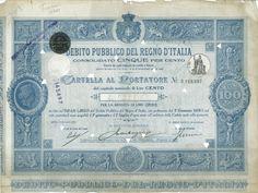 DEBITO PUBBL. DEL REGNO D' ITALIA -  CONSOLIDATO 5% - CARTELLE AL PORT. (DECR. 22 SETTEMBRE 1918) - #scripomarket #scriposigns #scripofilia #scripophily #finanza #finance #collezionismo #collectibles #arte #art #scripoart #scripoarte #borsa #stock #azioni #bonds #obbligazioni