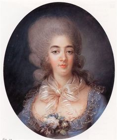 ca. 1780 Princess Marie Joséphine of Savoy, Countess of Provence by Rosalie Filleul