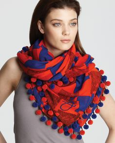DIANE von FURSTENBERG New Rochelle Scarf Jewelry   Accessories - Scarves,  Hats   Gloves - Bloomingdale s ffd05e1efb8