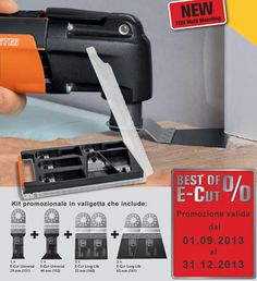 Kit accessori #Multimaster: BEST OF E-CUT lame E-Cut con Multi-attacco Fein #ferramenta #elettroutensili