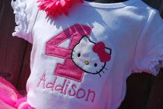 Hello Kitty personalized shirt! @Laurie Creech