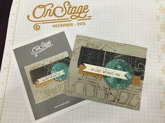 Stampin' Up! Sneak Peek of the Occasions 2016 Catalog. Going Global stamp set, Going Place Designer Paper & World Traveler Embossing Folder. Debbie Henderson, Debbie's Designs