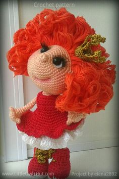 Project by elena2892 Doll Princess Amigurumi toy created using LittleOwlsHut crochet pattern