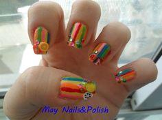 Fruit's nail art by May_Chan - Nail Art Gallery nailartgallery.nailsmag.com by Nails Magazine www.nailsmag.com #nailart