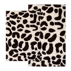rugs for the bathroom. i love leopard!