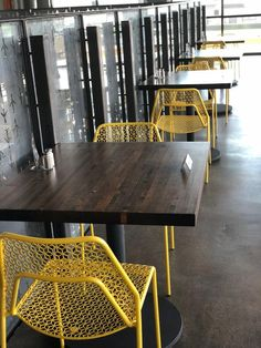 4 top and 2 top interior dining tables Industrial Restaurant Design, Mexican Restaurant Design, Outdoor Restaurant Design, Architecture Restaurant, Modern Restaurant, Restaurant Interior Design, Commercial Interior Design, Interior Design Tips, Brewery Interior