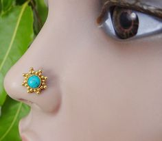 Turquoise Nose StudIndian Nose StudNose by TheEthnicJewels on Etsy
