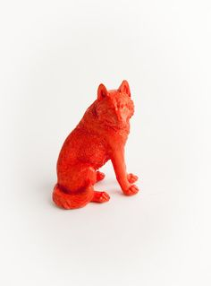 The Parker  Burnt Orange Table Top Wolf by WhiteFauxTaxidermy, $29.99