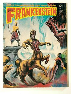 Vintage Science Fiction, Horror, Monster Magazine, Castle of Frankenstein no.21