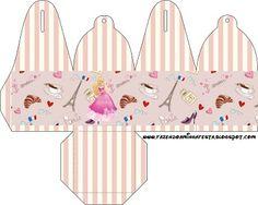 Cajitas imprimibles de Barbie Moda y Magia.