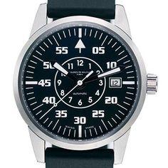 maurice de mauriac «automatic modern m» - designed by daniel dreyfuss  http://www.creativeboysclub.com/tags/watches