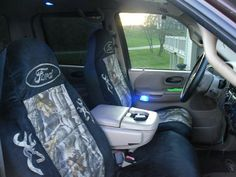 camo truck seat covers | Camo Seat covers - Ford F150 Forum - Community of Ford Truck Fans Ford Seat Covers, Camo Seat Covers, Truck Seat Covers, Camo Truck Accessories, Vehicle Accessories, Fords 150, Mossy Oak Camo, Truck Interior, The Ranch