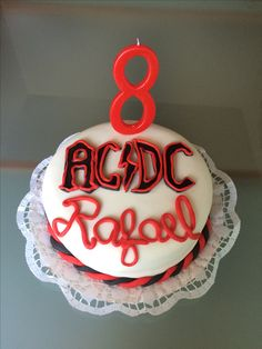 #birthdaycake #vegan #glutenfree #acdc #8years #mykidisarockstar