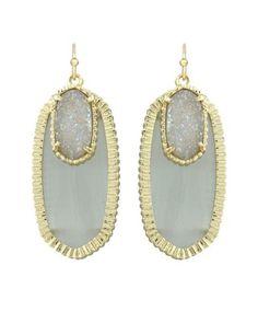 Dayton Earrings in Slate Ice - Kendra Scott Jewelry.