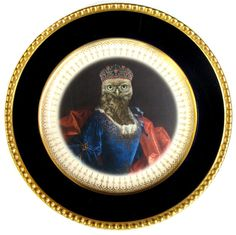 """Lady Aves, Countess of Strigidae - Altered Vintage Plate 8"""""""
