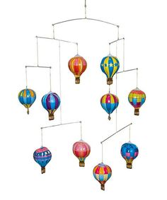 Look what I found on #zulily! Hot Air Balloon Mobile #zulilyfinds