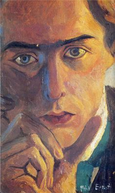 Self-Portrait by Max Ernst (1891-1976), German - primary pioneer of the Dada movement and Surrealism (wiki - coololdthings)