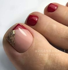 Art Ideas That Inspire You - Page 4 of 14 - Dazhimen . - Nails -Beautiful Toenail Art Ideas That Inspire You - Page 4 of 14 - Dazhimen . - Nails - The Best Nail Art Designs Compilation. 40 amazing toe nail colors to choose for next season page 41 Pretty Toe Nails, Cute Toe Nails, Pretty Toes, Gold Toe Nails, Pedicure Designs, Manicure E Pedicure, Pedicures, Toenail Art Designs, Pedicure Ideas