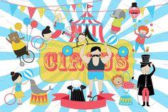 Circus Vector Illustration by Adiroz on @creativemarket