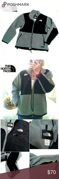 "THE NORTH FACE  GRAY/BLACK  DENALI POLARTEC JACKET THE NORTH FACE WOMENS HEATHER GRAY/BLACK  POLARTEC JACKET Pre-Loved  / RN# 61661 / POLARTEC Size S/P Heather Gray & Black Fleece Last Pic has Details & Description Length From Back Collar  27"" Pls Look at All Pics. Ask ? If needed. The North Face Jackets & Coats"