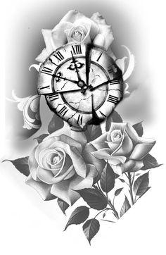 Leg Tattoo Men, Leg Tattoos, Body Art Tattoos, Tattoos For Guys, Rose Drawing Tattoo, Tattoo Design Drawings, Tattoo Designs, Chicano, Rose Tattoos