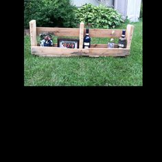 Pallet shelf for wine bottles or to display picture frames.