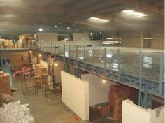 Install mezzanine floors between roof and the floor and take great advantage of space within the space to store your precious industrial goods at a low cost.