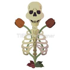 Now you can buy a sticker of a skull with death roses