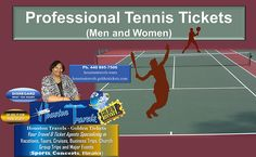 """Houston Travels Published by Donece D. Houston · 1 hr ·  TENNIS TICKETS  ***Available for all the MEN & WOMEN PROFESSIONAL TENNIS TOURS***  Tickets are on Sale NOW!!!!   Get your Ticket[s] Today!!!!!  Purchase """"All"""" of your MEN & WOMEN PROFESSIONAL TENNIS TOURS TICKETS from our Golden Ticket Website.  Use the link below to purchase your ticket[s]  https://houstontravels.goldentickets.com/Sports/Tennis-Tickets"""