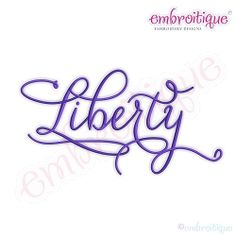 Liberty Script - 12 Sizes! | What's New | Machine Embroidery Designs | SWAKembroidery.com Embroitique