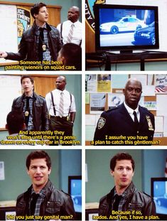Brooklyn Nine-Nine...my new favorite show! It is absolutely hilarious!