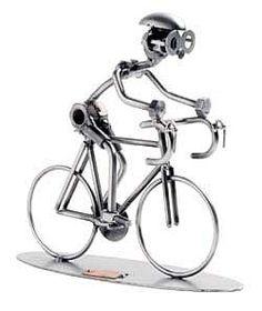Schraubenmännchen Rennradfahrer