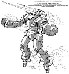 "This is my illustration for the Sling Battlemech from the Battletech book ""Historical: Operation Klondike"". You can buy the book from your local game store or order it online. It's a great book and..."