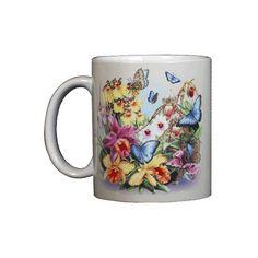 Butterfly Orchids Ceramic Mug