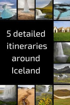 5 detailed Suggested itineraries around Iceland