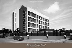 """Gangsadal Apartment""  Project: 4-Storey Residential Bldg. (B&W) Location: Khon Kaen, Thailand Designed: 483 Co. Ltd. (Team) 3D Visualization: F Render Designs WF; Sketchup 2016 + Vray 2.0 +Pscs6"