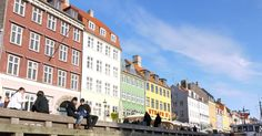 Colorful houses in the city center.