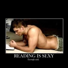 Two of of my favorite things: Jensen Ackles and reading. *le sigh*