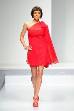 Tamara Taylor wearing Mark Belford, The Heart Truth Fashion Show 2012.