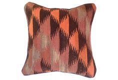 Turkish Kilim Fragment Pillow | Woven Wonders | One Kings Lane