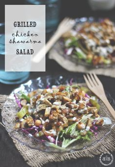 Grilled Chicken Shawarma Salad, a perfect light and filling meal for lunch or dinner!