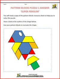 Free Shape Puzzles - Pattern Blocks Puzzle Use the pattern blocks to make the pattern shown given only the outline. All resources provided. 2nd Grade Math Worksheets, Printable Math Worksheets, Worksheets For Kids, Printables, Shape Puzzles, Maths Puzzles, Puzzles For Kids, Teaching Tools, Teaching Math