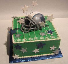 Dallas Cowboy Football Helmet Cake
