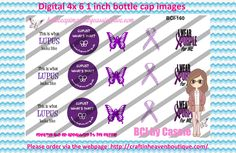 1' Bottle caps (4x6) Lupus Awareness BCI-160  CAUSES & AWARENESS BOTTLE CAP IMAGES #AWARENESS #CAUSES #bottlecap #BCI #shrinkydinkimages #bowcenters #hairbows #bowmaking #ironon #printables #printyourself #digitaltransfer #doityourself #transfer #ribbongraphics #ribbon #shirtprint #tshirt #digitalart #diy #digital #graphicdesign please purchase via link  http://craftinheavenboutique.com/index.php?main_page=index&cPath=323_533_42_55