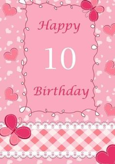 Happy Birthday:Birthday Journal or Notebook for 10 Year Old Girl: Birthday Journal/Notebook for Writing, Drawing or Doodling (Birthday Journals or Notebooks) Happy Birthday Kids, Birthday Wishes, Girl Birthday, 10 Year Old Girl, Everything Pink, Memory Books, Journal Notebook, Special Day, Your Child