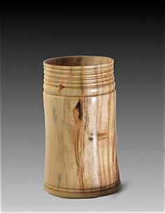 Handmade Pencil Cup/Pot in Cherry Wood by BkWoodturning on Etsy