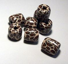 Macrame Large Hole Handmade Polymer Clay Beads with by BarbiesBest, $9.00