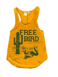 Free Bird Gypsy Desert Cactus Racerback Tank Top Made in the USA *****Order up*** Vintage Black rayon spandex S inches Wide inches Long M 15 inches Wide 25 inches Long L Inches W Gypsy Style, My Style, Estilo Boho, Cute Outfits, Summer Outfits, Cowgirl Style, Racerback Tank Top, Cool Tees, Western Wear
