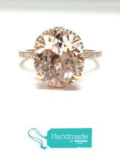 Oval Morganite Engagement Ring Pave Diamond Wedding 14K Rose Gold 10x12mm from the Lord of Gem Rings https://www.amazon.com/dp/B01H7ERONC/ref=hnd_sw_r_pi_dp_FufIxbFAQXC8F #handmadeatamazon