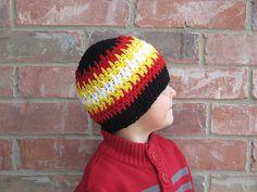 Spike Stitch Beanie / Crochet Hat / 7 by 3BoysAndABallOfYarn